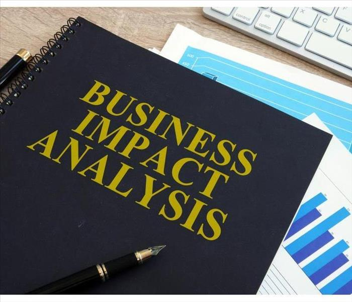 Business impact analysis (BIA) on a office desk.